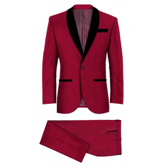 Red Shawl Lapel Tuxedo